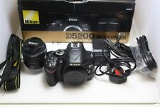 X 00 Nikon d5200 24.1mp Fotocamera Reflex Digitale-Nero (Kit Con AF-S VR DX Lens 18-55)