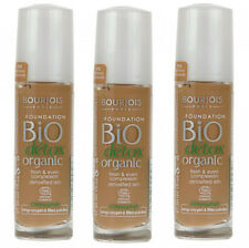 3 x Bourjois Bio Detox Organic Foundation 30ml  58 Dark Bronze