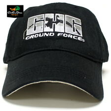 AVERY GREENHEAD GEAR GHG GROUND FORCE COTTON TWILL LOGO CAP BALL CAP HAT BLACK
