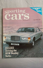 Sporting Cars Apr/May 1982 Bentley Turbo