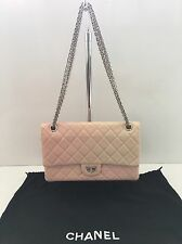CHANEL Pink White Ombre Degrade Reissue 2.55 226 Classic Jumbo Double Flap Bag