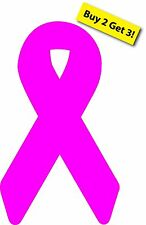 Pink Breast Cancer Awareness Ribbon  Car / Truck Vinyl Window Decal / Sticker