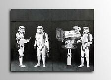 ACEO Banksy Stormtroopers Filming Oscars Graffiti Street Art Canvas Giclee Print