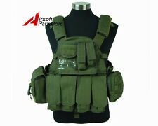 1000D Tactical Molle Combat Plate Carrier Vest Military Hunting Airsoft Olive OD