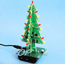 2PCS  Professional Red Green Flash LED Circui Christmas Trees LED DIY Kit