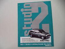 advertising Pubblicità 1988 AUSTIN METRO SERIE STUDIO 2
