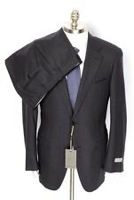 CANALI 1934 Italy Gray Plaid Wool 2Btn Flat Front Suit 54 7C 44 44S NWT $1895!