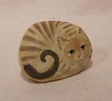 ♥ Deko Katze aus Kunstharz ♥ beige getigert ♥ Briefbeschwerer ♥
