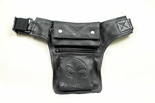 Outdoor Leather Leg Holster Utility Belt Thigh Black Waist Belt Pouch Bag