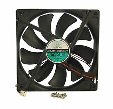 140mm 25mm Case Cooling Fan 12V 75CFM IP55 Waterproof 2 Wire Ball 14025 399*