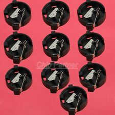 10pcs CR1220 Cell Battery Holder Button Coin Battery Socket Case Black