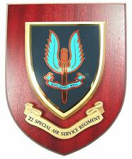 22 SPECIAL AIR SERVICE SAS CLASSIC HAND MADE IN UK REGIMENT MESS PLAQUE