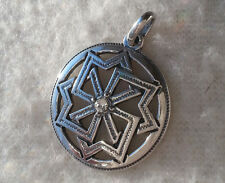 Solid Sterling Silver 925 Molviniec Pendant Amulet VIKING with Swarovski Ethnic
