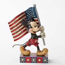 Disney Traditions Jim Shore Mickey Mouse with American Flag Old Glory Figurine
