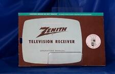 Zenith Television Receiver Operating Manual 1962