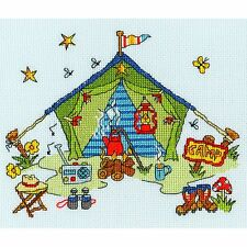 BOTHY THREADS SEW DINKY TENT BY AMANDA LOVERSEED CROSS STITCH KIT - NEW