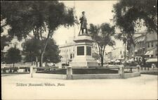 Woburn MA Soldiers Monument c1910 Postcard