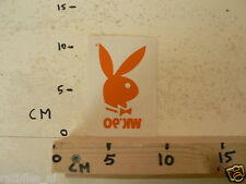 STICKER,DECAL PLAYBOY BUNNY ? WK 90 VOETBAL SOCCER 10 CM HIGH B