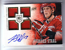 13/14 PANINI PRIME JARED STAAL QUAD ROOKIE RC JERSEY AUTO /199
