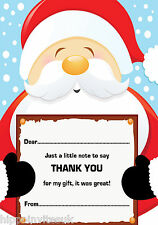 Christmas Thank You Notes x 20 A5 with envelopes - Santa Claus Large