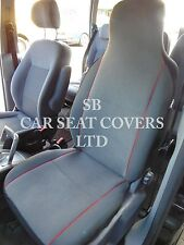 i - TO FIT A VAUXHALL ZAFIRA TOURER CAR, SEAT COVERS, GREY/RED PIPING, 2 FRONTS
