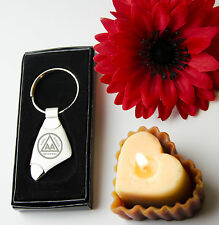 Engraved AA anonymous alcoholics  + your text - Personalised Keyring Boxed