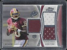 ROBERT GRIFFIN III 2012 TOPPS PRIME TRIPLE RELIC ROOKIE JERSEY RC #D 99/194