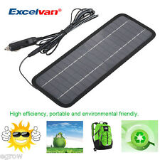 12V 4.5W Portable Power Solar Panel Battery Charger Fit Auto Car Boat Motorcycle