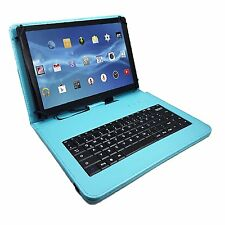 "10.1 ""QWERTY Bluetooth Tastiera Case Per Samsung Galaxy Tab 2 P5100-Turchese"