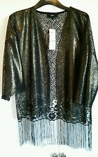 Ladies next black gold metallic jacket 15.00 size 14 orig 32.00