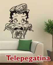 VINILO DECORATIVO PARA PARED BETTY BOOP MOTORISTA 60X70 PEGATINA WALL STICKER