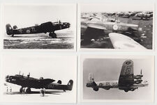 RAF WW2 AND POSTWAR LANCASTER HALIFAX BOMBERS - 4 PHOTOGRAPHS