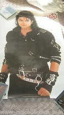 MICHAEL JACKSON BAD ERA ATTIRE BUCKLE  PROMO OFFICIAL POSTER NO SMILE CD