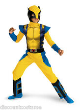 LICENSED MARVEL CLASSIC WOLVERINE X-MEN BOYS HALLOWEEN COSTUME SIZE MEDIUM 7-8