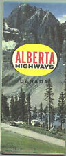 1965 Alberta Province-issued Vintage Road Map
