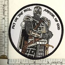 PUT ON FULL ARMOR OF GOD TEMPLAR KNIGHTS patch CRUSADER tactical military VELCR