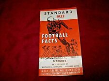 Vintage 1955 Standard Oil Football Guide, Warner's Service in the Baltimore Area