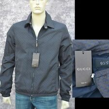 GUCCI New sz 46 - 36 Authentic Designer Mens Horsebit Web Blouson Coat Jacket