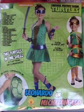 NWOT TEENAGE MUTANT NINJA TURTLES Girl 8-10 Halloween Costume Leonardo Michaelan