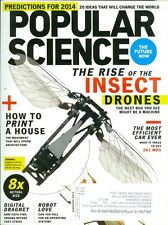 2014 Popular Science Magazine: Insect Drones/Most Efficient Car Ever/3D Printing