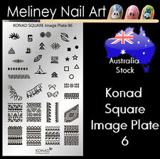 Konad Square Image Plate 6 for Stamping Nail Art Transfer Stencils Tribal