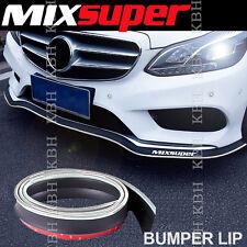 MIXSUPER Rubber Front Bumper Lip Splitter Chin Spoiler EZ Protector CHROME o