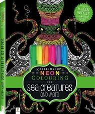 NEW Neon Colouring Kit with 6 highlighters Activity Kit Free Shipping