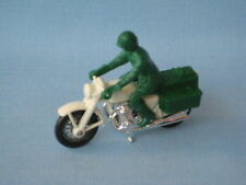 Lesney Matchbox Honda Motorcycle Polizei White Frame Police All Green Rider UB