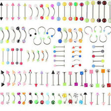 Classic 105pcs Body Jewelry Eyebrow Navel Belly Tongue Nose Piercing Bar Ring