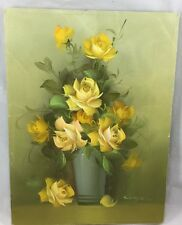 Bouquet Of Yellow Ro Oil On Canvas By Joy Cooper 17 Inches By 13 Inches