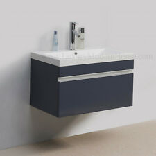 "Vanity Sink PICKUP LOS ANGELES 30"" GRAY modern bathroom cabinet wall hung"