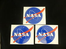 "OFFICIAL NASA ""MEATBALL"" STICKER - Authentic Vinyl Decal 3.5"" -3 stickers - NEW"
