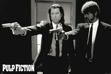 Pulp Fiction Duo Guns Vincent and Jules John Travolta Movie Poster 24x36 inch