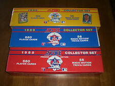 3 SCORE BASEBALL CARDS FACTORY SETS - 1988 - 1989 - 1990
